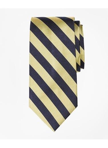 Brooks Brothers 100024572 Çizgili Erkek Çocuk Kravat Altın